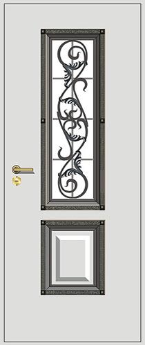 входные двери белые с ковкой
