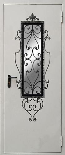 входные двери металлические с окном ковка